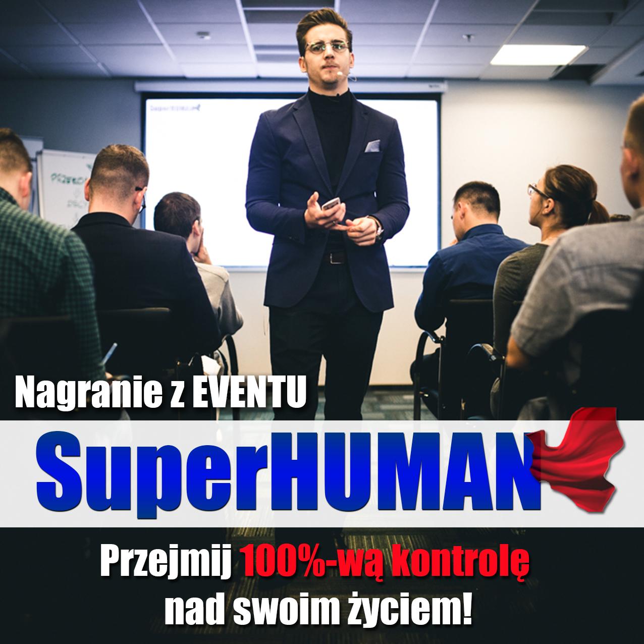 SuperHUMAN logo zdjęcie